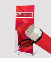Red ROLL-UP - 100x200 cm